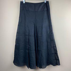 Free People gorgeous black semi-sheer a-line skirt